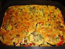 Gemüse Frittata mit Aubergine-grünem Spargel-Zucchini & rotem Paprika - Rezept - Bild Nr. 122
