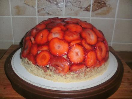 Biskuit Obstboden dick & Erdbeer Torte oder Kuppel - Rezept - Bild Nr. 123