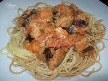 Spaghetti mit Auberginen - Tomaten - Sauce - Rezept