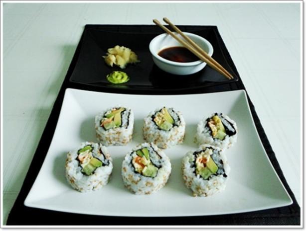 Sushi: California Rolls -  selber machen - Rezept - Bild Nr. 225
