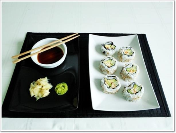 Sushi: California Rolls -  selber machen - Rezept - Bild Nr. 226