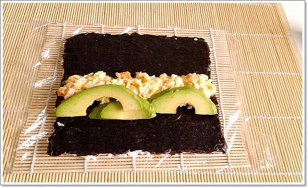 Sushi: California Rolls -  selber machen - Rezept - Bild Nr. 245