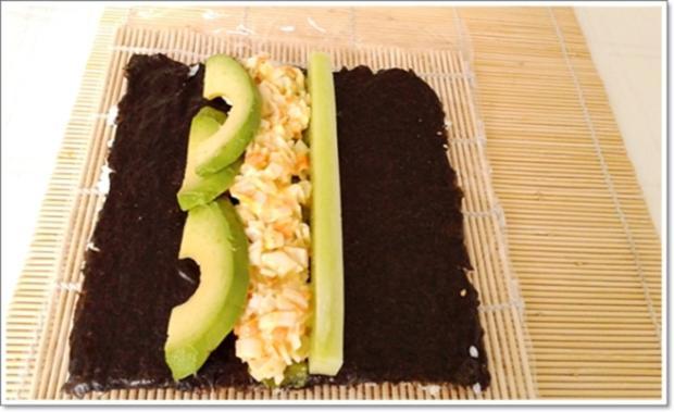 Sushi: California Rolls -  selber machen - Rezept - Bild Nr. 247