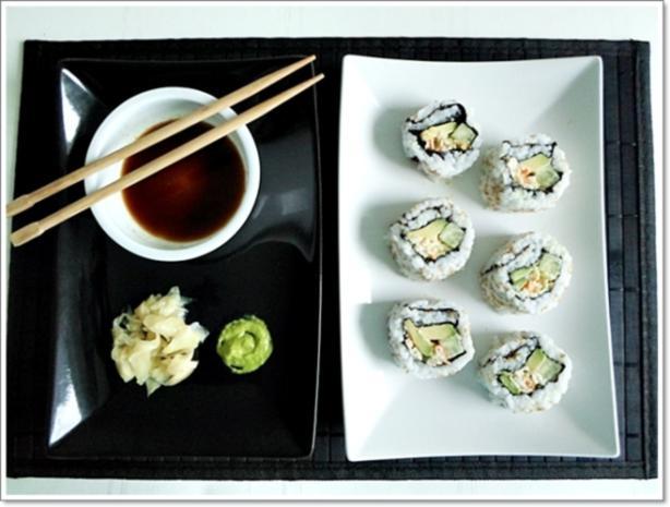 Sushi: California Rolls -  selber machen - Rezept - Bild Nr. 254