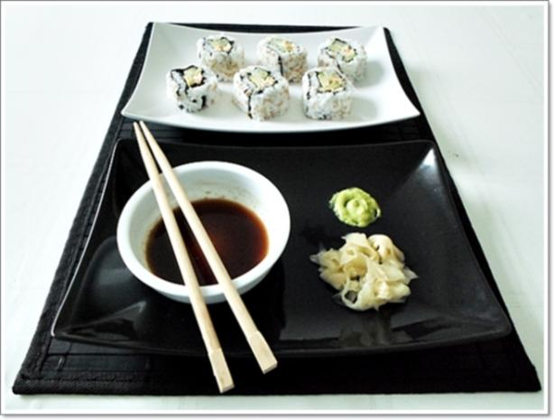 Sushi: California Rolls -  selber machen - Rezept - Bild Nr. 255