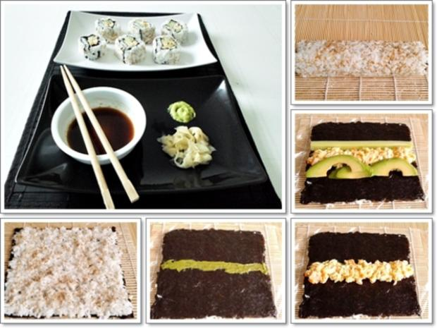 Sushi: California Rolls -  selber machen - Rezept - Bild Nr. 256