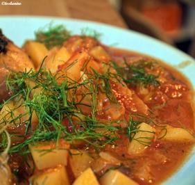 Würzige Hähnchenkeulen mit Fenchel-Tomaten-Kartoffel-Gemüse - Rezept - Bild Nr. 245