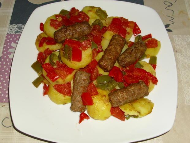 Cevapcici Gemüse Pfanne - Rezept - Bild Nr. 294