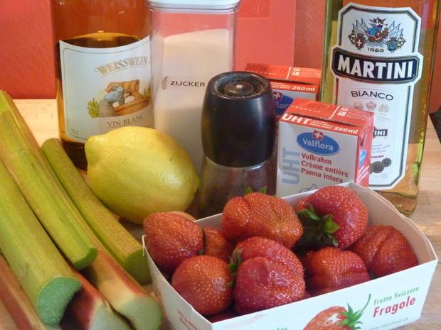 Rhabarber Glace mit Erdbeeren - Rezept - Bild Nr. 305