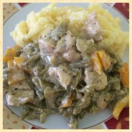 Rezept: Hähnchen-Bohnenpfanne