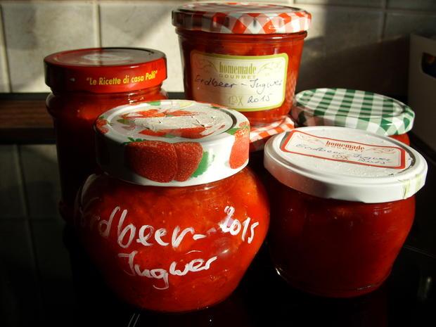 Konfitüre & Co: Erdbeer mit kandiertem Ingwer - Rezept - Bild Nr. 327