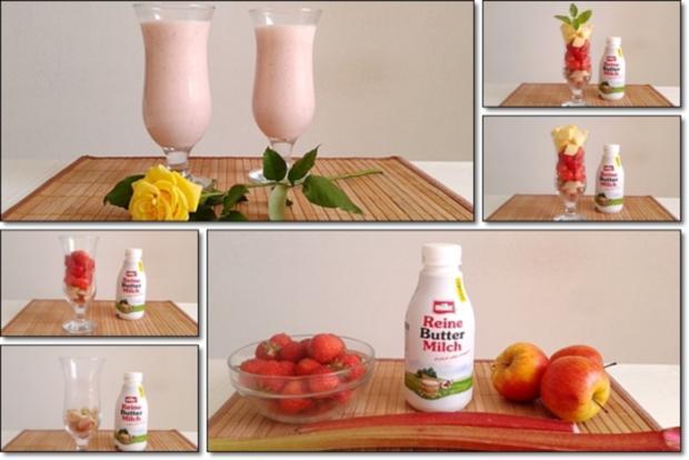 Erdbeer-Rhabarber-Äpfel Milchshake - Rezept - Bild Nr. 358