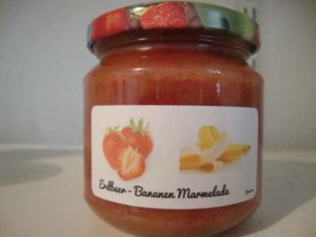 Rezept: Erdbeer - Bananen Marmelade