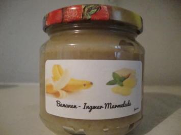 Rezept: Bananenmarmelade mit Ingwer