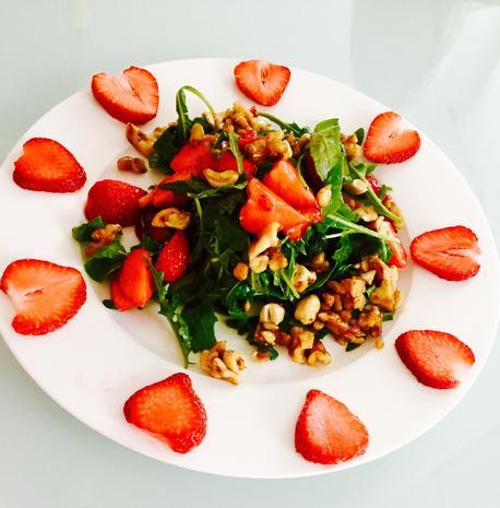 Erdbeer-Rucola Salat - Rezept - Bild Nr. 333