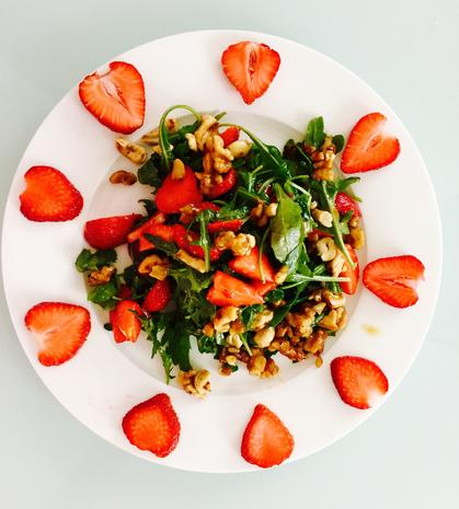 Erdbeer-Rucola Salat - Rezept - Bild Nr. 334