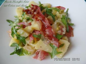 Rucola-Kartoffel-Salat mit Erbsen und Speck - Rezept - Bild Nr. 335