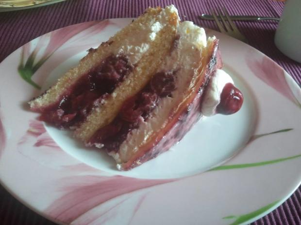 Holländer Kirsch Sahne Torte - Rezept - Bild Nr. 401