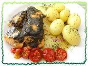 Fisch:   LACHSSCHEIBEN an Kräuterbutter - Rezept - Bild Nr. 401