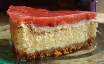 American Strawberry Cheesecake - Rezept