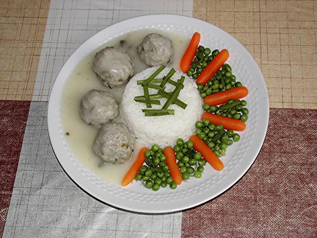 Kochklops mit Reis und Gemüse - Rezept - Bild Nr. 456