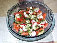 Tomaten-Gurken-Radieschen Salat - Rezept - Bild Nr. 456