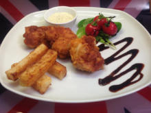 Breaded Scampi with XL- Chips and homemade Tartar Sauce - Rezept - Bild Nr. 468