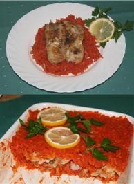 Fischfilet auf Gemüsebett - Rezept - Bild Nr. 466