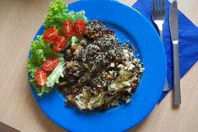 Gemüse mit Reis und Oliven Crumbles - Rezept - Bild Nr. 497