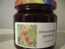 Schwarzkirschen Marmelade mit Schokolade & Vanille verfeinert - Rezept - Bild Nr. 499