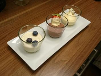 Rezept: Dreierlei Pudding