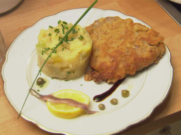 Schnitzel gibt es immer wieder - Kalbschnitzel mit Kartoffelsalat (Guildo Horn) - Rezept - Bild Nr. 572