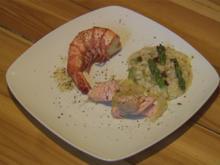 Zitroniges Risotto mit grünem Spargel & Fischbeilage (Schandmaul) - Rezept - Bild Nr. 572