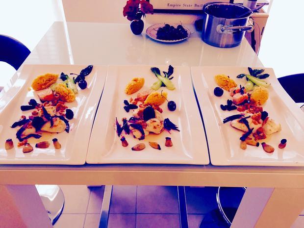 Seeteufelbäckchen-Lachs mit Gemüse-Chili-Couscous - Rezept - Bild Nr. 2
