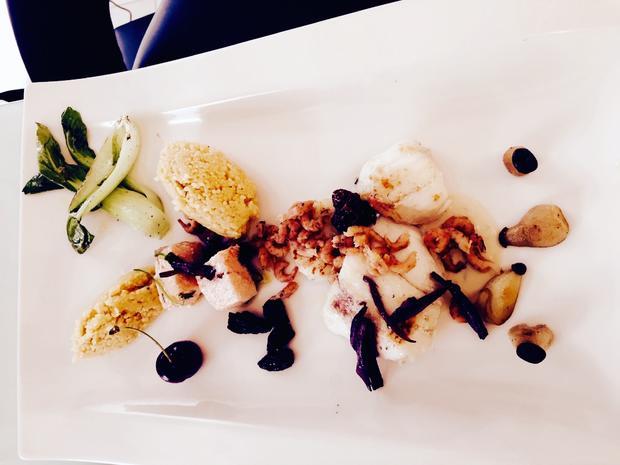 Seeteufelbäckchen-Lachs mit Gemüse-Chili-Couscous - Rezept - Bild Nr. 3