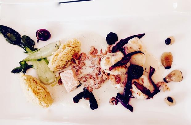 Seeteufelbäckchen-Lachs mit Gemüse-Chili-Couscous - Rezept - Bild Nr. 11