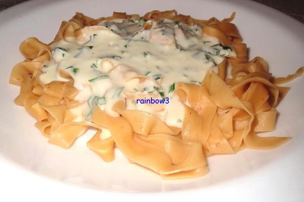 Kochen: Tagliatelle mit Gorgonzola-Sahne-Sauce - Rezept - Bild Nr. 3