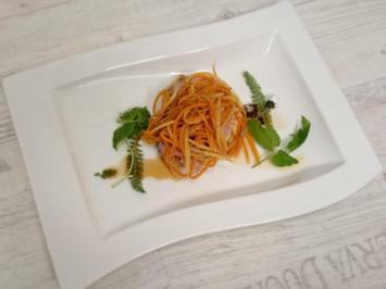 Kalbstafelspitz mit Rucola-Kartoffel-Püree sowie Streifen von Wurzelgemüse - Rezept - Bild Nr. 96