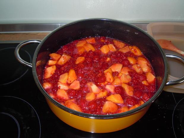 Himbeer-Pfirsich-Marmelade - Rezept - Bild Nr. 89