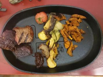 Rezept: Rinderfilet sous-vide, Wedges und Grillgemüse