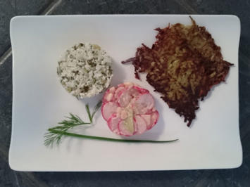Tatar von der Forelle, Apfel-Radieschen-Salat mit westfälischen Reibeküchlein - Rezept - Bild Nr. 97