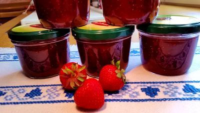 Rezept: Erdbeer-Rhabarber-Konfitüre