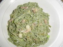 Grüne Tagliatelle mit einer Lauch-Speck-Erbsen Sahne Sauce - Rezept - Bild Nr. 110