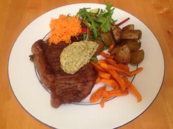Steak mit Fritten, Rotweinsauce und Rote-Bete-Minz-Salat - Rezept - Bild Nr. 127