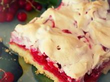 Johannisbeer-Kuchen vom Blech mit Rührteig und Baiser - Rezept - Bild Nr. 211