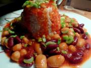 Kichererbsen treffen Bohnen am Reisturm - Rezept - Bild Nr. 131