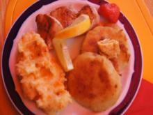 Puten-Ministeaks mit Kohlrabischnitzel und Möhren-Sellerie-Kartoffelstampf - Rezept - Bild Nr. 146