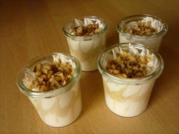 Rezept: Kleine Cuppucino-Sahne-Desserts  Low Carb