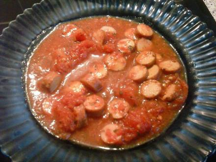 Tomatensuppe mit Würstchen - Rezept - Bild Nr. 146