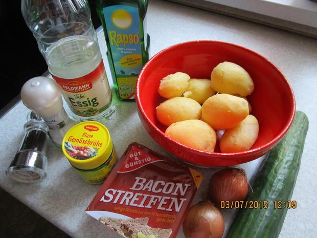 sommerlicher Kartoffelsalat ohne Majo wegen der Wärme - Rezept - Bild Nr. 149